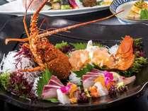 伊勢海老と鮮魚の盛合せ※実際とは異なる場合もございますのでイメージとして参考にしてください。
