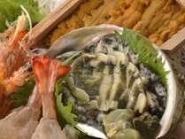 【6月8月限定美食旅】玄海の海の幸を舟盛りで満喫する!烏賊の活き造りに雲丹、鮑、鱧、鯛など~2食付