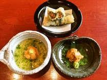 【紫ウニ3種】期間限定!紫ウニのお造里、紫ウニとアオサの茶碗蒸し、ウニの天ぷらが食べられる♪
