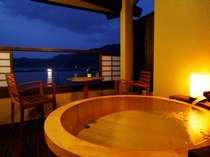 ◆新館 露天風呂付客室◆ 漁火が海を照らして、漁がはじまる。その光景をみることができるかも