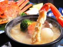 【松葉かに・冬】当館オリジナルのカニ味噌チーズフォンジュは極上のかに味噌とチーズが絶妙にマッチ!