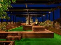 無料利用可能施設の屋上テラス