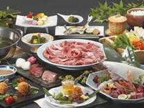 今年は選べる鍋コース!白イカと鳥取和牛のしゃぶしゃぶ(またはスキヤキ)プラン
