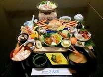 長者会席(大漁まな板料理)地産料理と水産会社の魚介を生かした新メニューです。