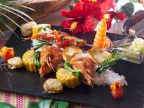 7・8月開催 夏の料理フェア『海鮮串焼き』※写真はイメージです。