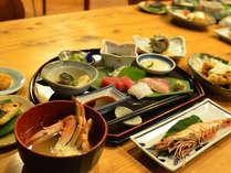 新鮮な魚介類を近所のお母さんの手料理でいただく自慢のメニュー♪