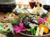 6月限定!選べる特典●活きあわび付●旬海鮮&自家製シャキシャキ野菜の炭火焼きぷらん♪