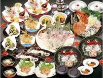 豪華「宴(うたげ)」『桜銀(鮭)・牡蠣・蟹・鱈きく鍋』・活魚(鯛か黒そい)・本鮪・鮑(刺身か酒蒸し)