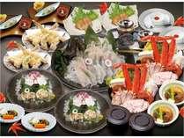 「癒(いやし)」南三陸志津川産活魚黒そいと蟹・鱈の白子(鱈きく)がふんだんに入った『蟹・鱈きく鍋』