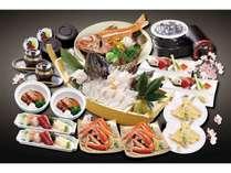 「まる特膳」南三陸志津川産活魚黒そい・蟹・赤魚の酒蒸し、さらに仙台名物牛タンもお付けした超お得な膳!
