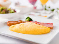 ■朝食■ アメリカンブレックファーストを選択された方にご提供する、シェフお手製『ふわふわオムレツ』