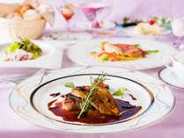 ■ディナー■ 名門ホテルで修行を重ねたシェフが[長崎和牛×オマール海老]の味を繊細に引き出します