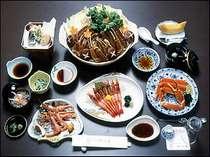 [写真]カニえび三昧プラン 一例(季節により食材が変わる場合もございます)
