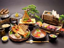金扇懐石:スタンダード客室最上級のお料理でございます。