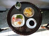 洋朝食は無料でサービスしております♪プラス500円で和朝食が付いたプランもございます。