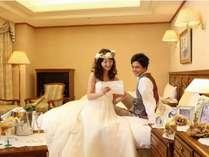 【セミスイート6F】結婚式後の新郎新婦様もご利用になるラシーネのセミスイートルーム