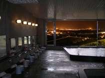 夜景を楽しむことができる大浴場
