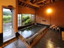 本館浴場(内湯から露天風呂へ)