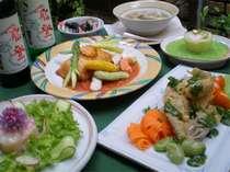 【夕食】金沢の食材をふんだんに使ったオリジナル洋食コース料理です。