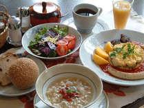 【朝食】雪椿の朝食はとってもヘルシー&ボリューム?