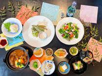 【春ver.地元の山菜を使ったお料理と自家製牛タンシチュー】