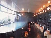 弱アルカリ性?単純温泉?【由松乃湯】片面に日本庭園が広がる御影石造りの大浴場★24時間ご利用頂けます