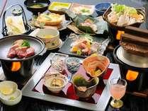 新潟のうまさぎっしり!彩り豊かな紅山桜会席をご堪能ください♪(TV放映されたお料理です)