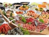 夕食バイキング海の幸をふんだんに使ったお料理をどうぞ!