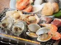 地元房総産の新鮮魚介を使用した海鮮浜焼き