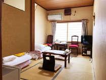 【禁煙】和室6畳(バス・トイレなし)の一例