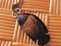 ルームキーには水牛の角で作られた魚のキーホルダーがついてます。