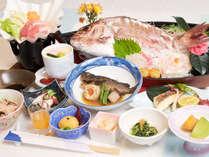 ★じゃらん限定★【鯛の姿造りとレモンポーク鍋メインの海鮮会席】1泊2食付プラン