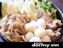 ◆朝食:だまこ汁(イメージ)一口サイズのきりたんぽで食べやすい♪