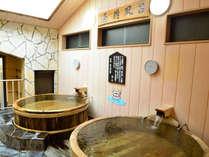▲大正時代に使用していた酒樽を使用した、なんとも風情のあるお風呂!