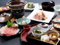 冬限定夕食一例平田牧場金華豚と山形ブランド山形牛のしゃぶしゃぶ食べ比べ