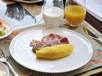 ご朝食の卵料理はお好きな調理方法で。