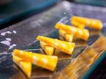 ちょこっとチーズが嬉しい朝食ブッフェのチーズ