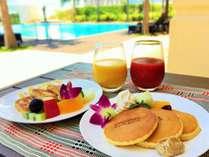 「朝スイーツ」ホテルメイドの黒糖フレンチトーストやパンケーキはいかがでしょうか?