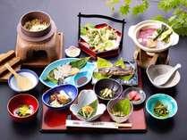 *【夕食一例】旬食材の手作り田舎料理。グレードアップは品数が増えます。