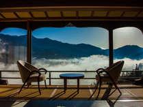 まさに天空から見渡すような客室からの眺望。運が良ければ雲海を見ることも・・・。