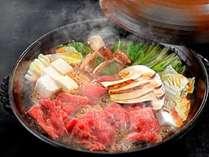 【秋のグルメ】黒毛和牛と松茸のすき焼き付きプラン