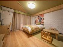 スタンダードダブルのお部屋です。