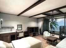 【客室】錦江湾に浮かぶ桜島・霧島連山の山並み・ガーデンプールなど多彩な眺望を。