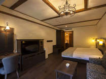 【エコノミーツイン】キングサイズのベッドを。《カップル》や《ご夫婦》での滞在にぴったり。