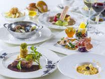 【夕食】イタリアンテイストと地元の旬菜を織り交ぜた洋食コース料理を。