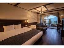 【フォレスタエコノミーツイン】ダブルベッド+シングルベッドが1台入ったお部屋になります。