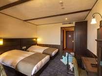 【ルシアンツイン】テラスには半身浴も愉しめるビューバス。当館でポピュラーなお部屋タイプ。