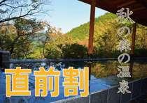 【直前割】秋の旅行におススメ★最大1000円引き★お日にち限定・2食付きプラン♪