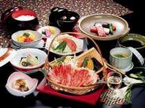 ☆極上霜降り「伊賀牛」サーロイン肉陶板焼会席夕食&日替わり和朝食♪忍♪