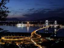 【周辺】白鳥大橋の夜景。工場夜景も人気。